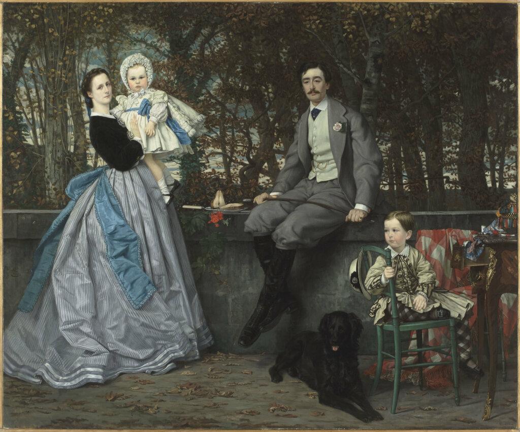 Exposition Orsay - James Tissot, Portrait du marquis et de la marquise Miramon et de leur enfants