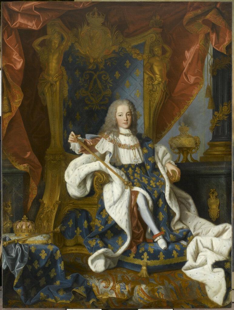 Jean Ranc, Louis XV (1710-1774) roi de France, âgé de 9 ans, en costume royal, assis sur le trône
