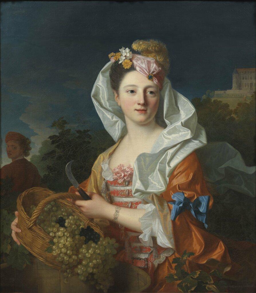 Jean Ranc, Une vendangeuse, portrait présumé de Marguerite Elisabeth Rigaud, vers 1715