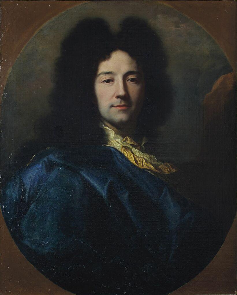 Hyacinthe Rigaud, Autoportrait dit « au manteau bleu », 1696