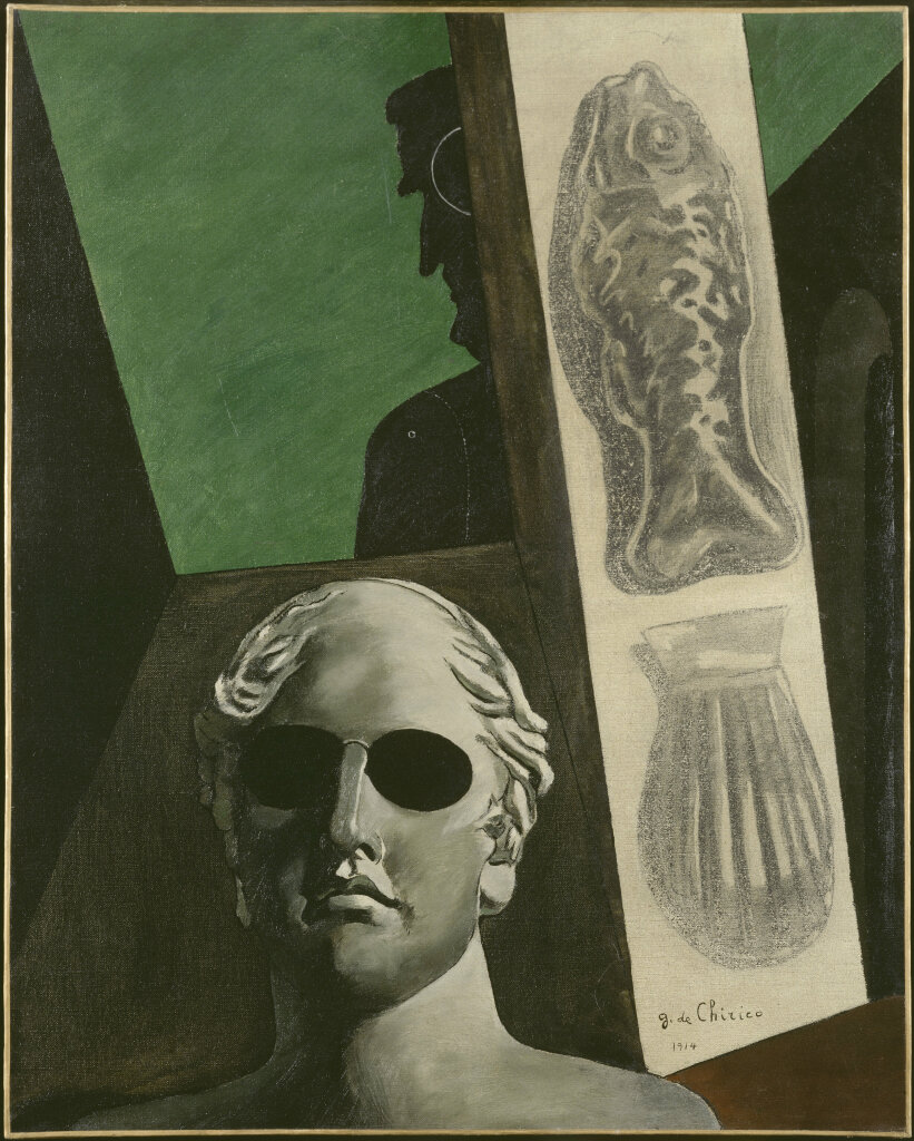 Giorgio de Chirico, Portrait (prémonitoire) de Guillaume Apollinaire, 1914