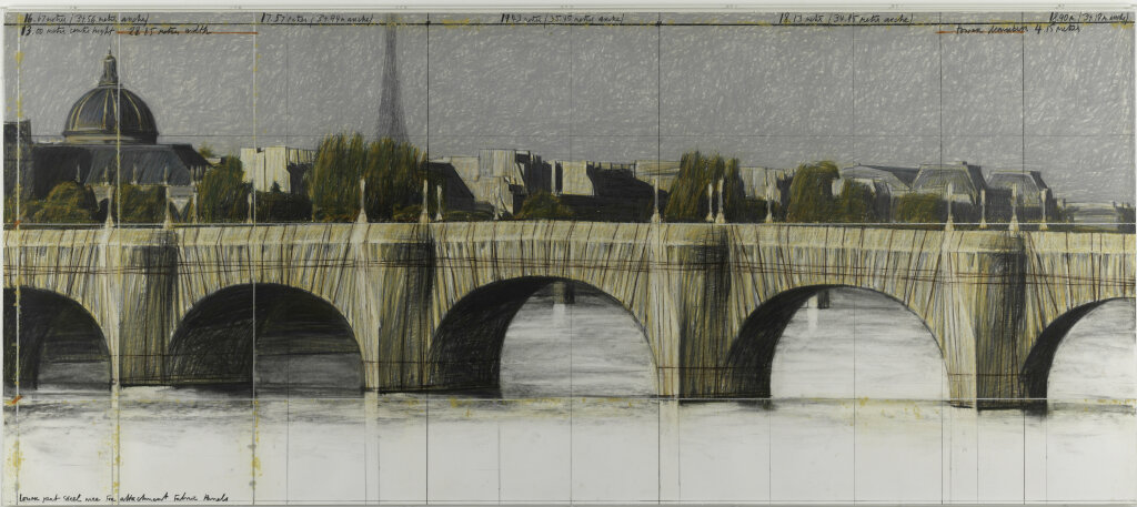 Christo et Jeanne Claude, The Pont-Neuf Wrapped (Project for Paris), 1985