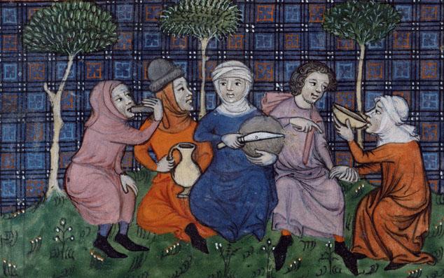 Le partage du pain : la michepaysanne.Guillaumede Machaut, Oeuvres, Paris