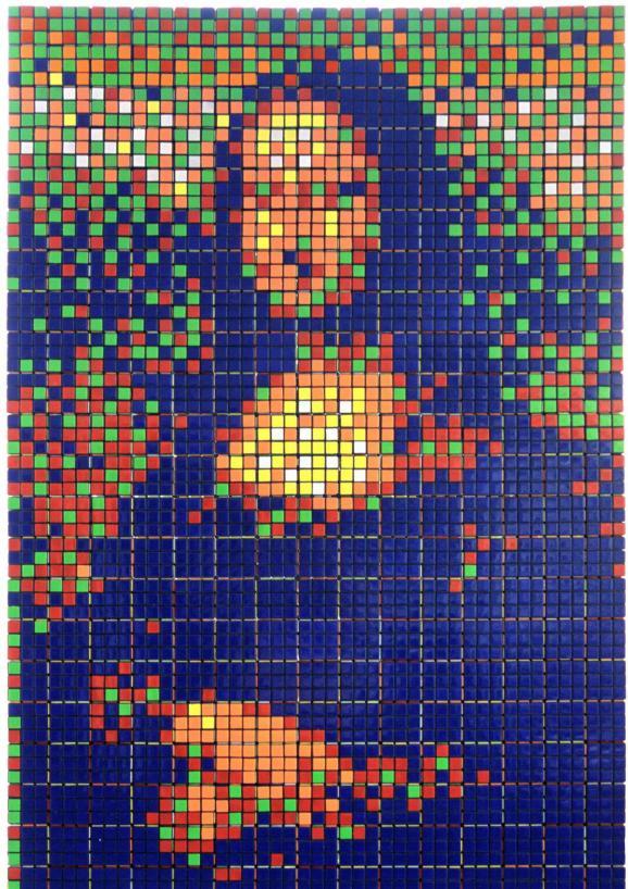 """Rubik Mona Lisa"" , 2005 de Invader"