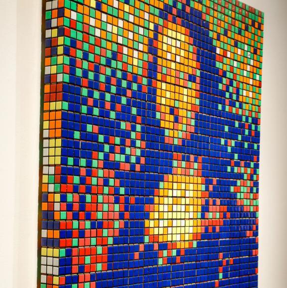 La Rubik Mona Lisa est composée de 330 cubes magiques 3D
