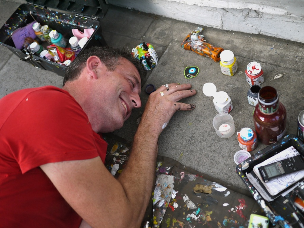 Ben Wilson chewing-gum man portrait