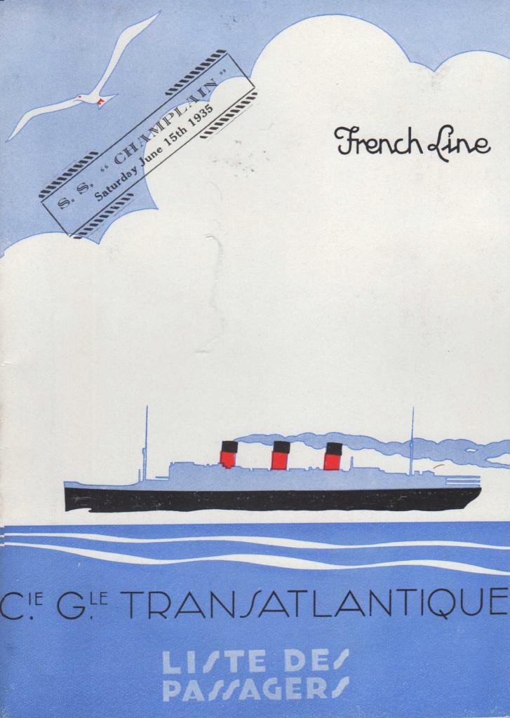 """Compagnie Générale Transatlantique """"Le Champlin"""" (1935) Mathurin Meheut"""