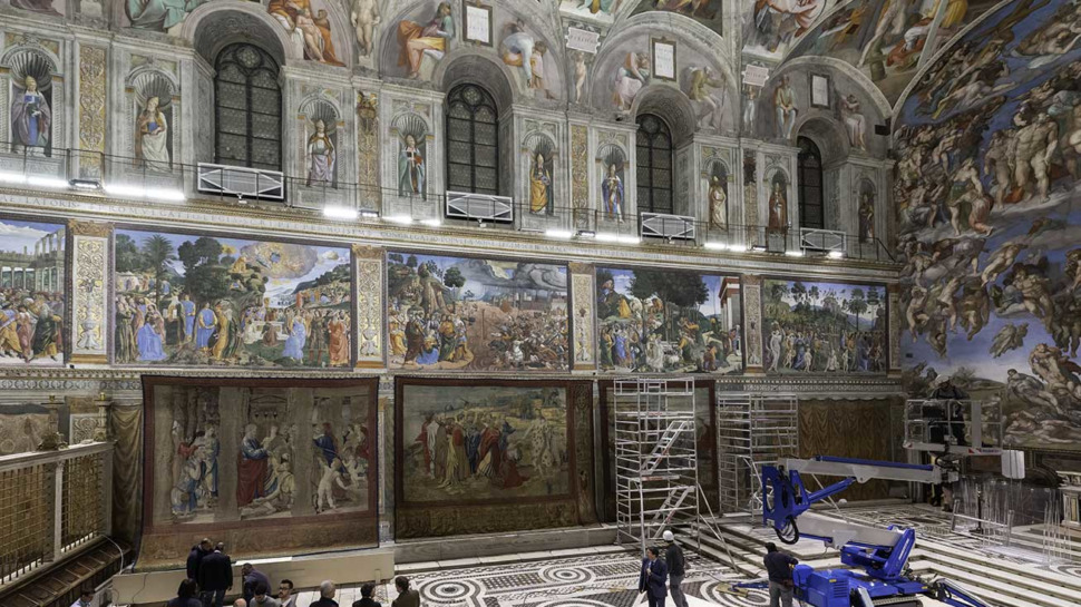 Les douze tapisseries de Raphaël reviennent à la Chapelle Sixtine