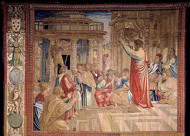 «Le Sermon de saint Paul à Athènes», tel que représenté dans l'œuvre de Raphaël