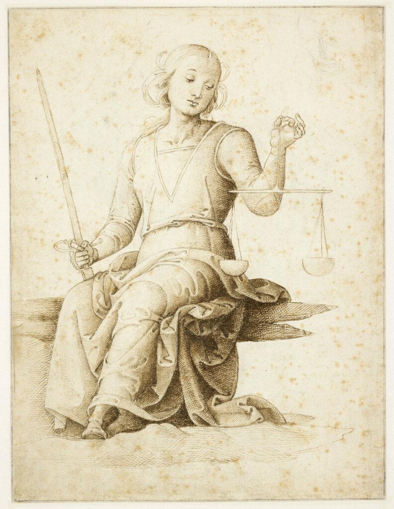 Pietro Vannucci, dit Le Pérugin - Figure de la Justice, une main