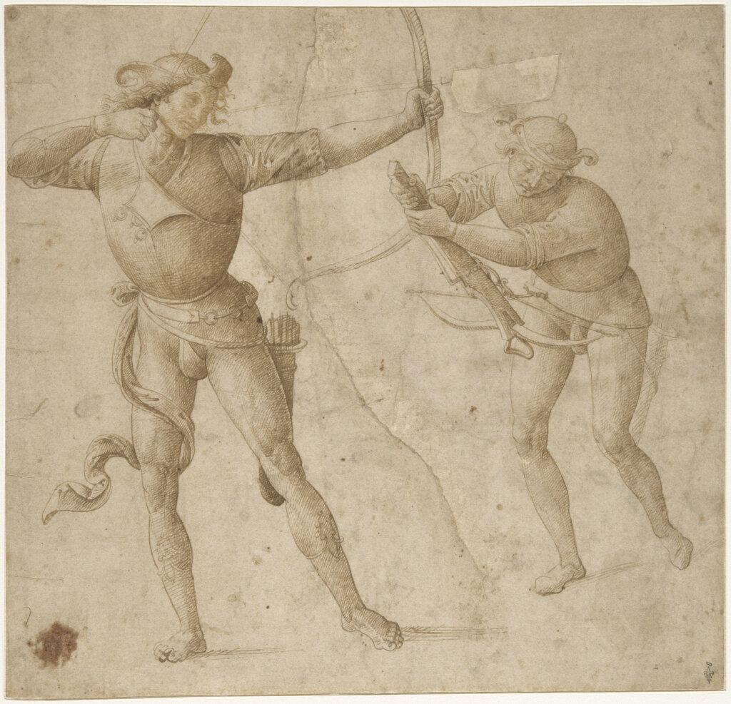 Pietro Vannucci, dit Le Pérugin - Un archer et un arbalétrier