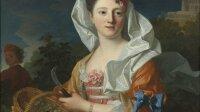 NM 2770, Jean Ranc, Jean-Baptiste Santerre, Porträtt av okänd dam som Pomona, Olja på duk