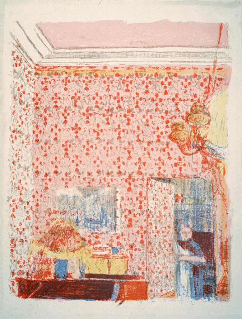 Vuillard, Paysages et intérieurs, planche Intérieur aux tentures roses