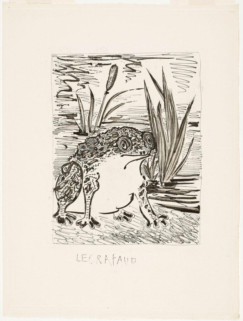 Picasso, Buffon, Le Crapaud, histoire naturelle, IIème état