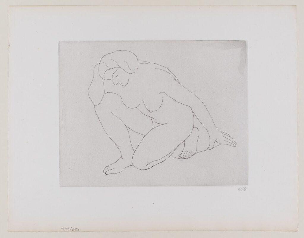Maillol, Femme agenouillée sur le coude gauche