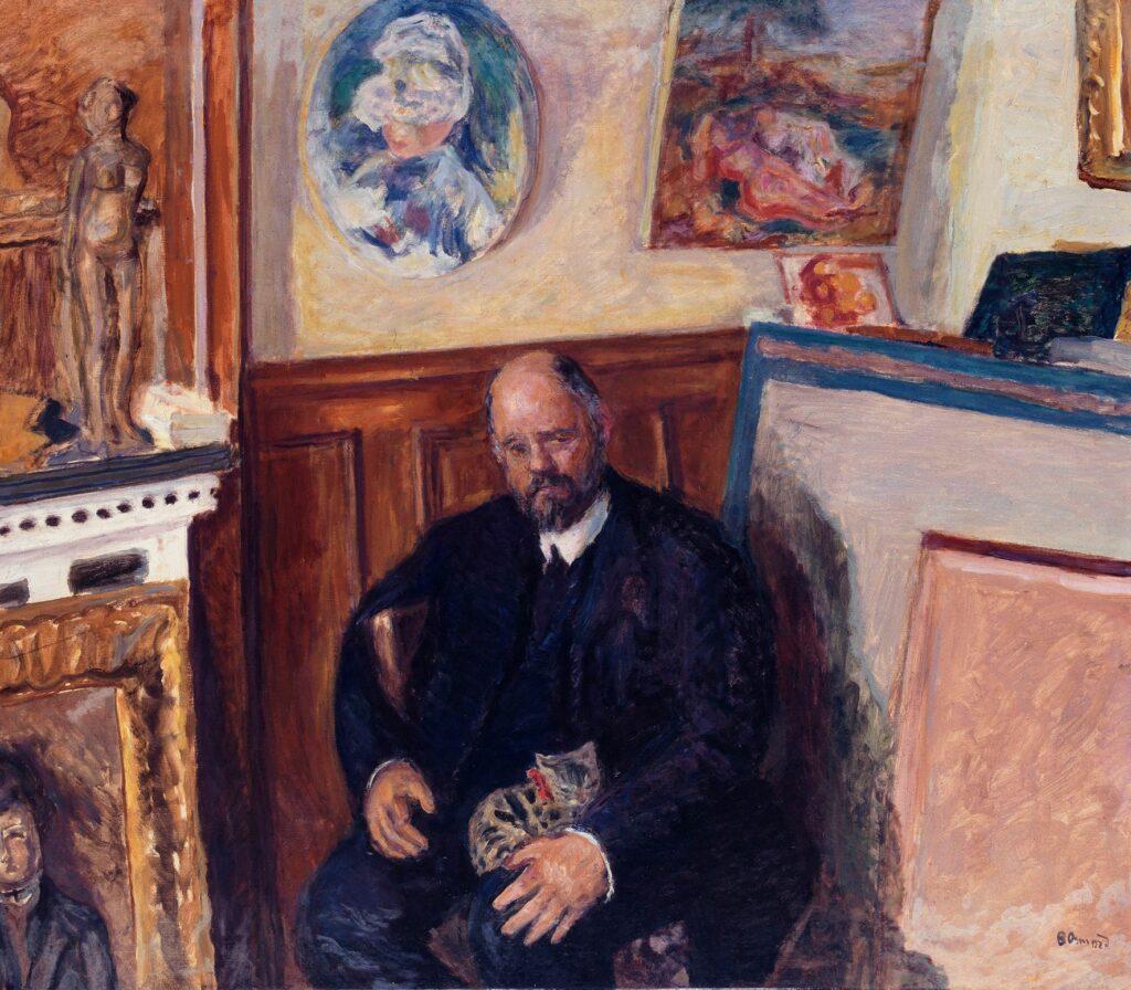 Pierre Bonnard, Portrait d'Ambroise Vollard au chat, vers 1899
