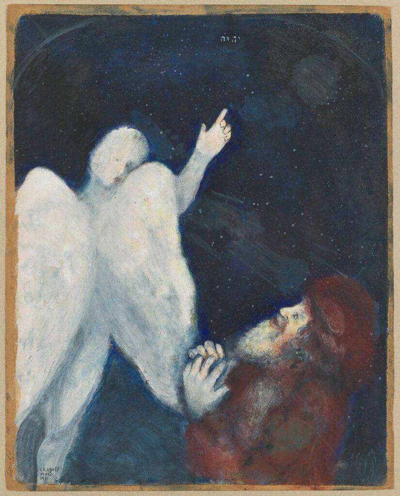 Marc Chagall, Noé reçoit l'ordre de construire l'Arche, 1931