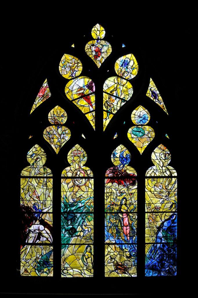 Marc Chagall, Cathédrale Saint-Etienne, Transept nord côté ouest, Metz, 1963-1964