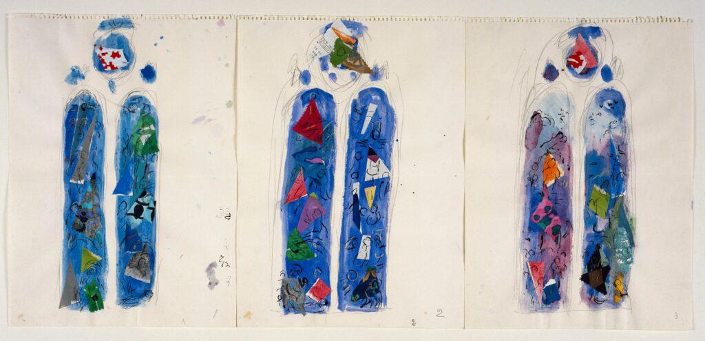 Marc Chagall, Cathédrale de Reims, 1973