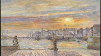 Exposition Emile Constant, Hôtel Dubocage, Avant-port au soleil couchant– E. Constant