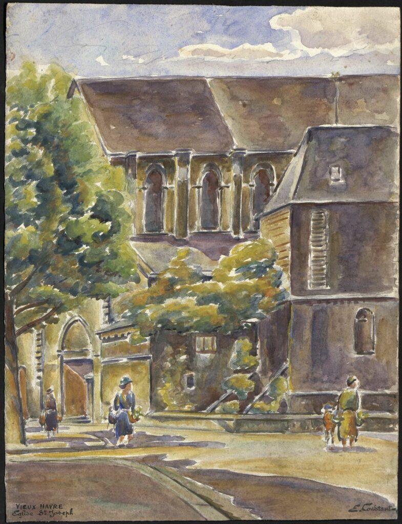 Exposition Emile Constant Le Havre une autre ville à l'hôtel Dubocage de Bléville, Eglise St Joseph -E-Constant