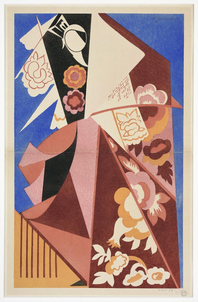 Exposition Folklore , Gontcharova espagnole
