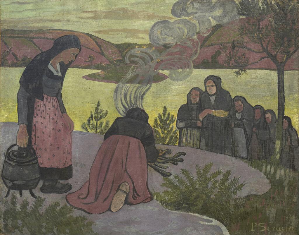 Exposition Folklore -Paul Sérusier Le Feu dehors