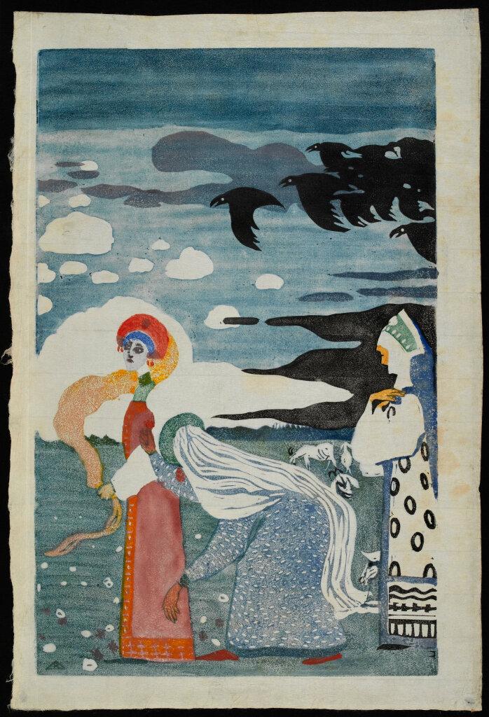 Exposition Folklore - Vassily Kandinsky, Die Raben(Les corbeaux), 1907