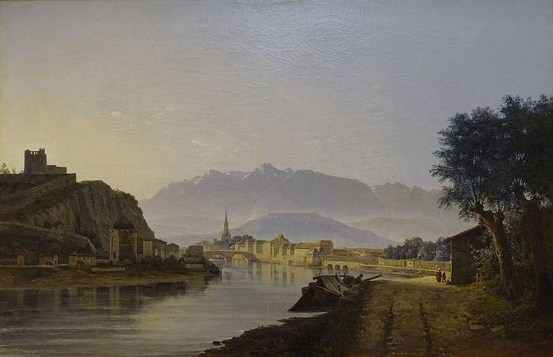 Exposition Grenoble et ses artistes au XIXe siècle -Jean-Alexis Achard, Vue de Grenoble prise du Quai de la Graille