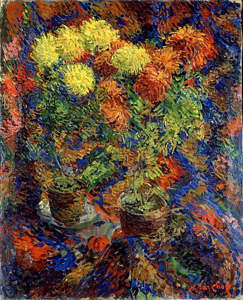 Exposition Hôtel-Dieu de Mantes-la-Jolie, Nicolas Tarkhoff, Chrysanthèmes sur tapis d'Orient, 1907