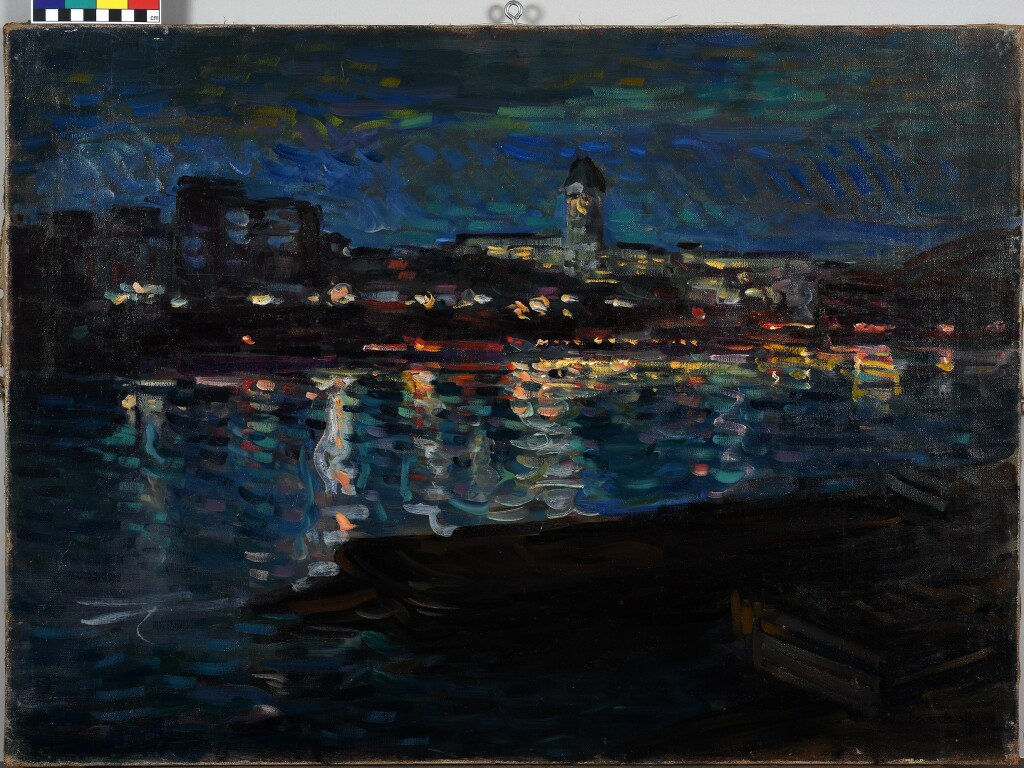 Exposition Hôtel-Dieu de Mantes-la-Jolie, Nicolas Tarkhoff, La Seine, la nuit, Vers 1905