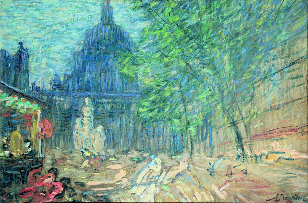 Exposition Hôtel-Dieu de Mantes-la-Jolie, Nicolas Tarkhoff, La Sorbonne, place Auguste Comte, Paris, Vers 1899