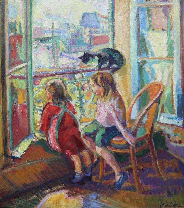 Exposition Hôtel-Dieu de Mantes-la-Jolie, Nicolas Tarkhoff, Les enfants à la fenêtre, 1910