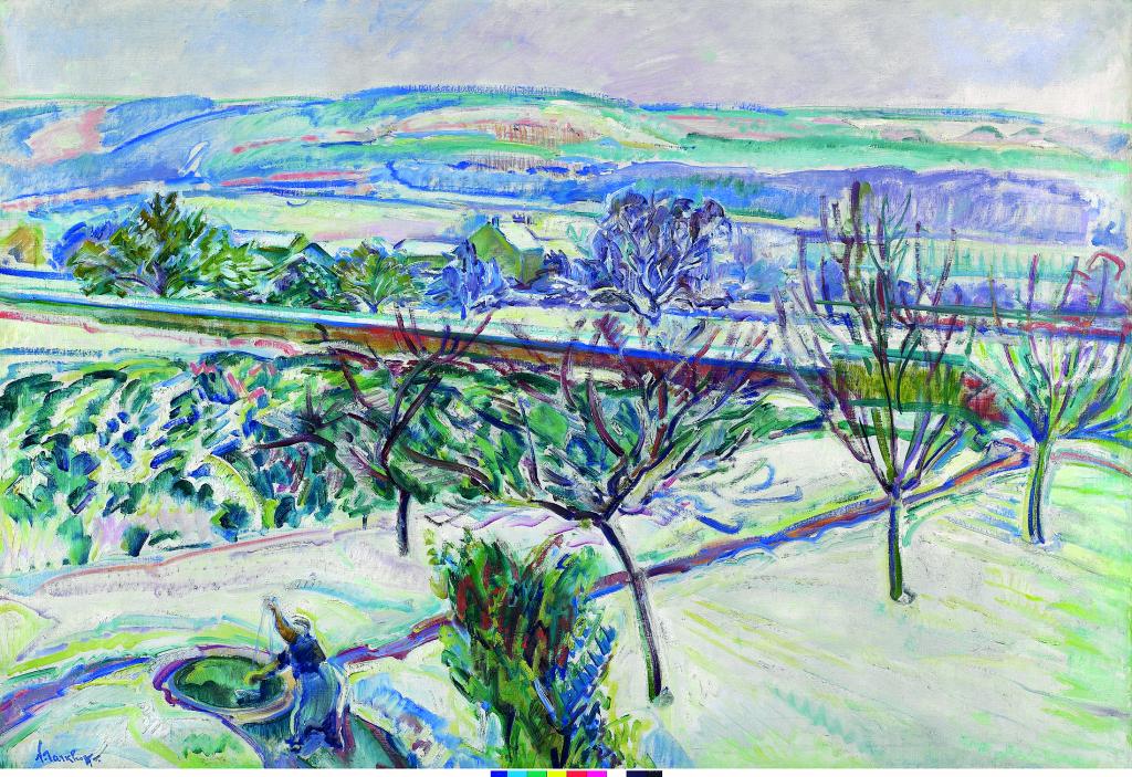 Exposition Hôtel-Dieu de Mantes-la-Jolie, Nicolas Tarkhoff, Paysage d'hiver, Orsay, Vers 1912-1915