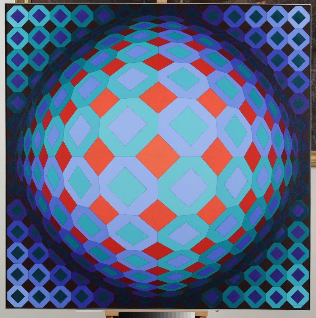 Exposition Musée du Touquet-Paris-Plage, Victor Vasarely, Okta-Cor, 1973
