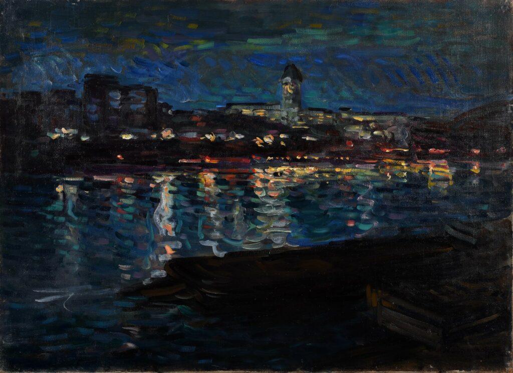 Nicolas Tarkhoff, La Seine, la nuit,Vers 1905