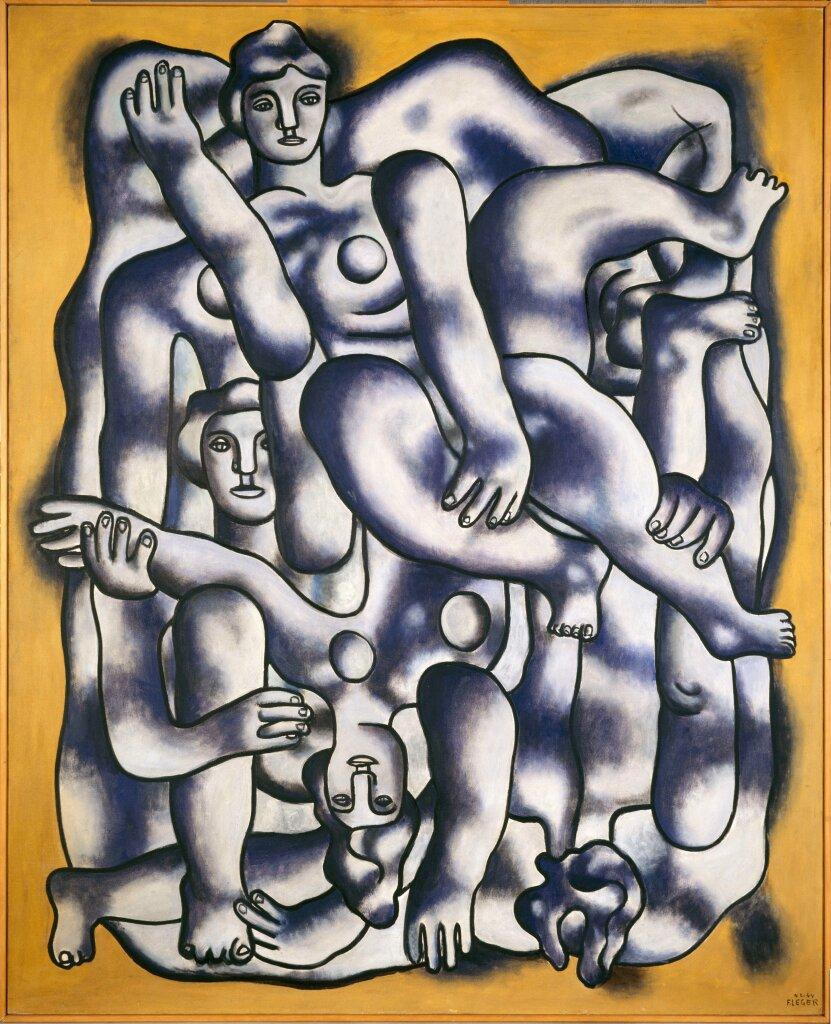 Fernand Léger, Les acrobates en gris © centre Pompidou-MNAM-