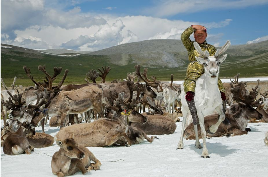 Hamid Sardar, Deermaid on Glacier - Mingholuk Highlands, West Taïga, Mongolia
