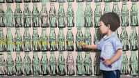 Javier Caraballo, L'art est une affaire d'enfants, 2019_Marqueur acrylique, huile sur toile, 130 x 150 cm © Adrián Ibáñez Galería
