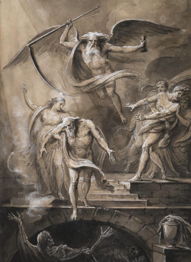 Jean-Marie Delaperche, Le sage s'appuyant sur la vertu descend avec résignation dans sa tombe, 1817