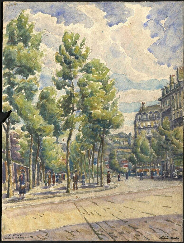 Place de l'Hôtel de ville- E. Constant