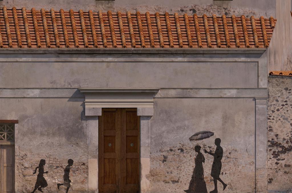 Reconstitution d'une rue de Pompéi