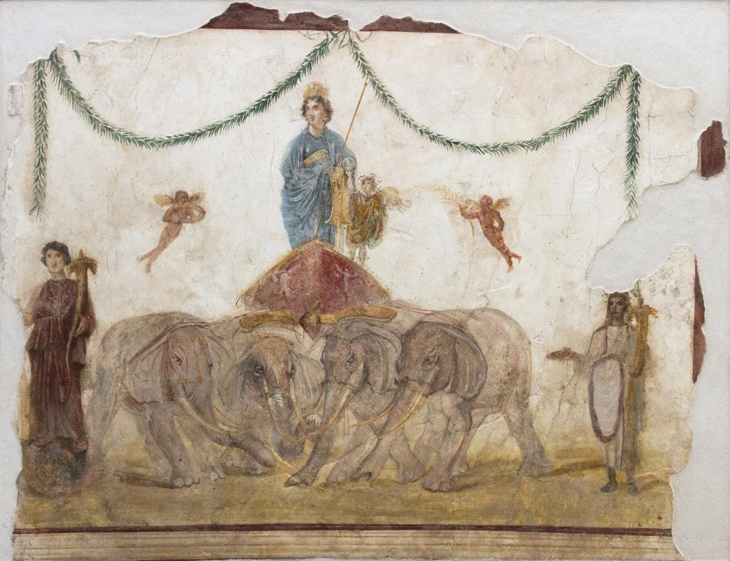 Vénus sur son char tiré par des éléphants