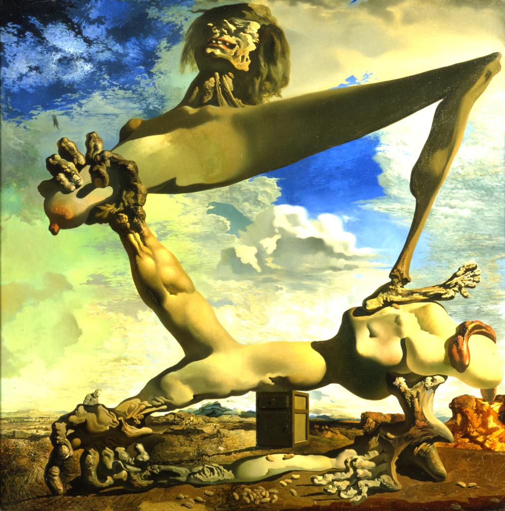 Salvador Dalí, Réminiscence archéologique de l'angelus de millet, vers 1934