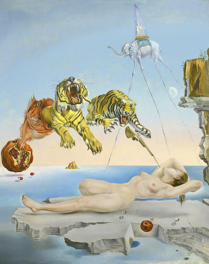 Salvador Dalí, Rêve causé par le vol d'une abeille, 1944
