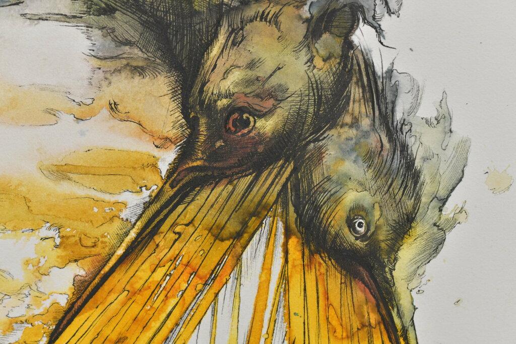Vue de l'exposiiton Anton Tchékhov, mise en peinture à la galerie Boris Paris (10)