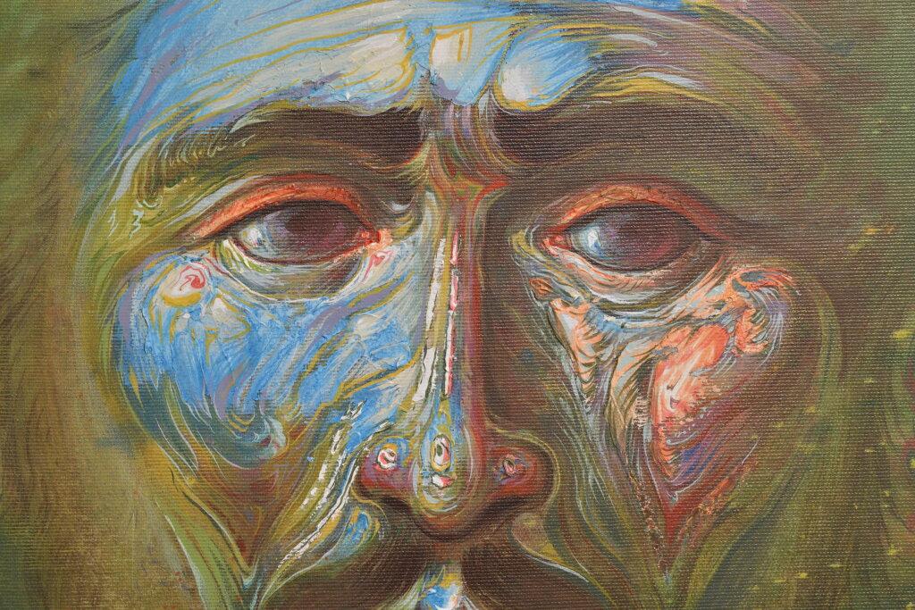 Vue de l'exposiiton Anton Tchékhov, mise en peinture à la galerie Boris Paris