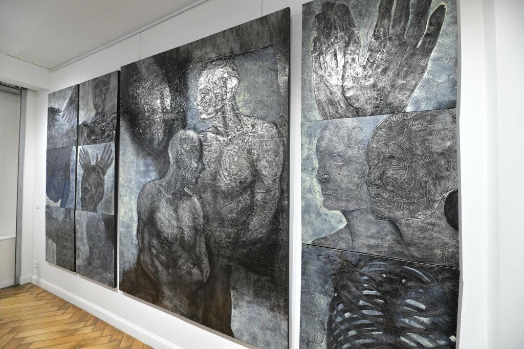 Vue de l'exposiiton Anton Tchékhov, mise en peinture à la galerie Boris Paris (11)