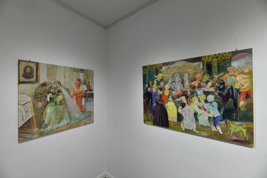 Vue de l'exposiiton Anton Tchékhov, mise en peinture à la galerie Boris Paris (12)