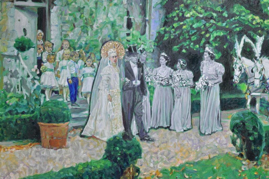 Vue de l'exposiiton Anton Tchékhov, mise en peinture à la galerie Boris Paris (16)